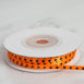 "25 Yards 1/8"" Orange Satin Polka Dot Ribbon"