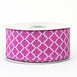 "10 Yards 1.5"" Purple Grosgrain Geometric Pattern Quatrefoil Ribbon"