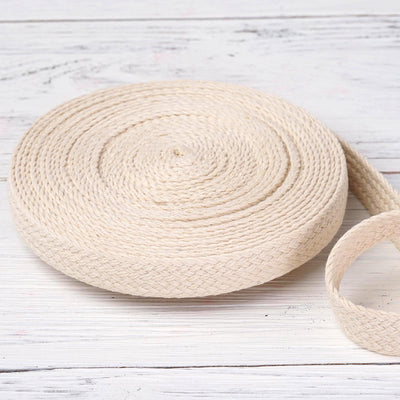 "10 Yards Ivory 7/8"" Picturesque Woven Rustic Burlap Ribbon"