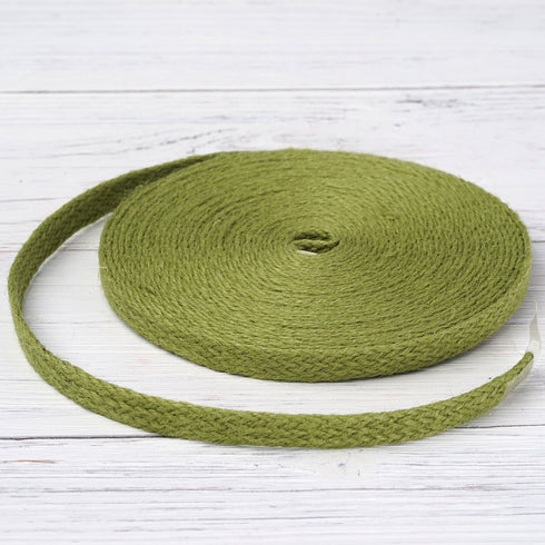 "10 Yards Green 1/2"" Picturesque Woven Rustic Burlap Ribbon"