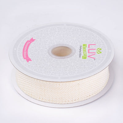 "10 Yards 7/8"" Ivory Burlap Ribbons"