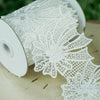 5 Yards White Drapery Trims And Embellishments Crochet Lace Ribbon With Bow Pattern