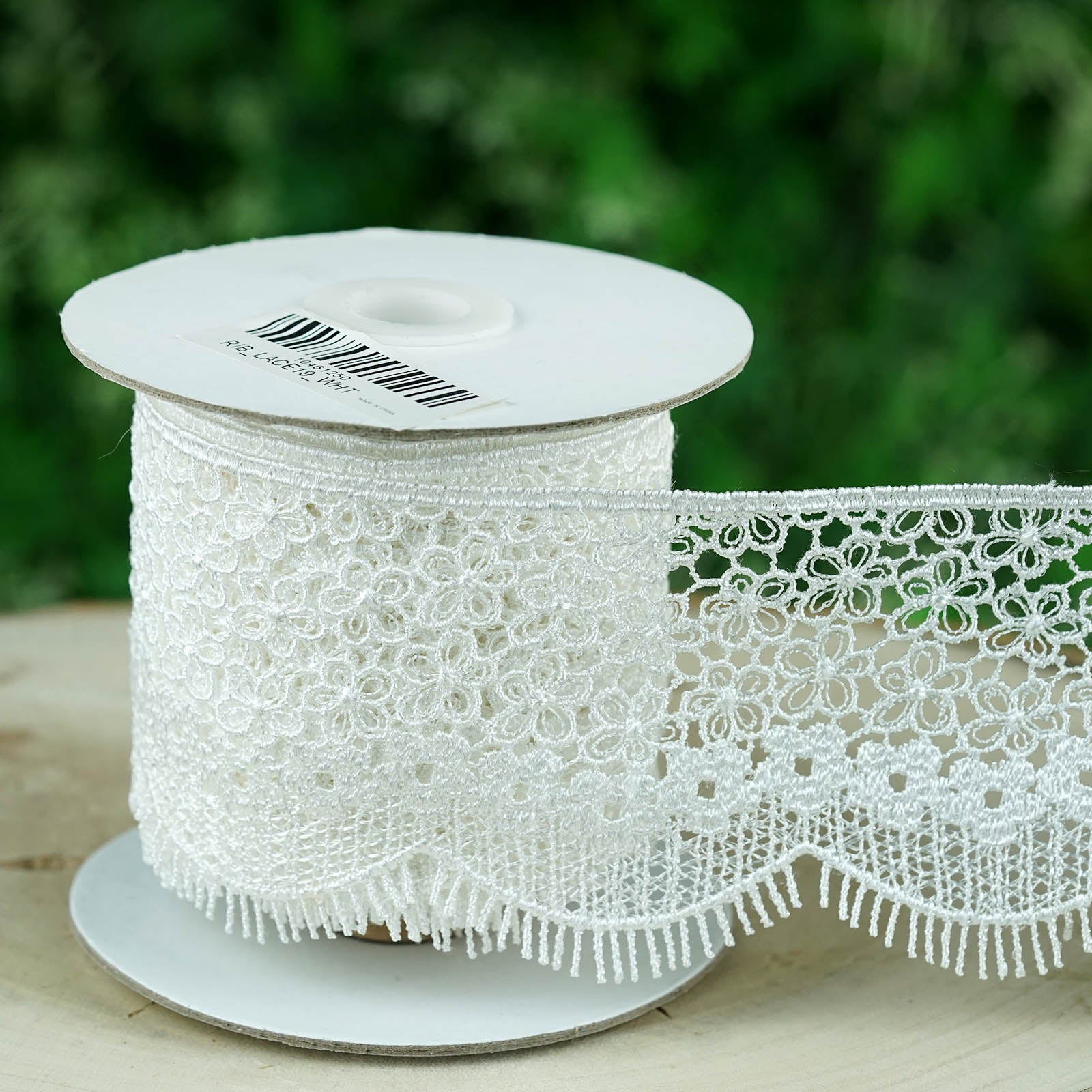 """Lace Trim OFF WHITE Crochet Rose Flower Lace Cotton 4 3//4/"""" Trim Sold By The Yard"""