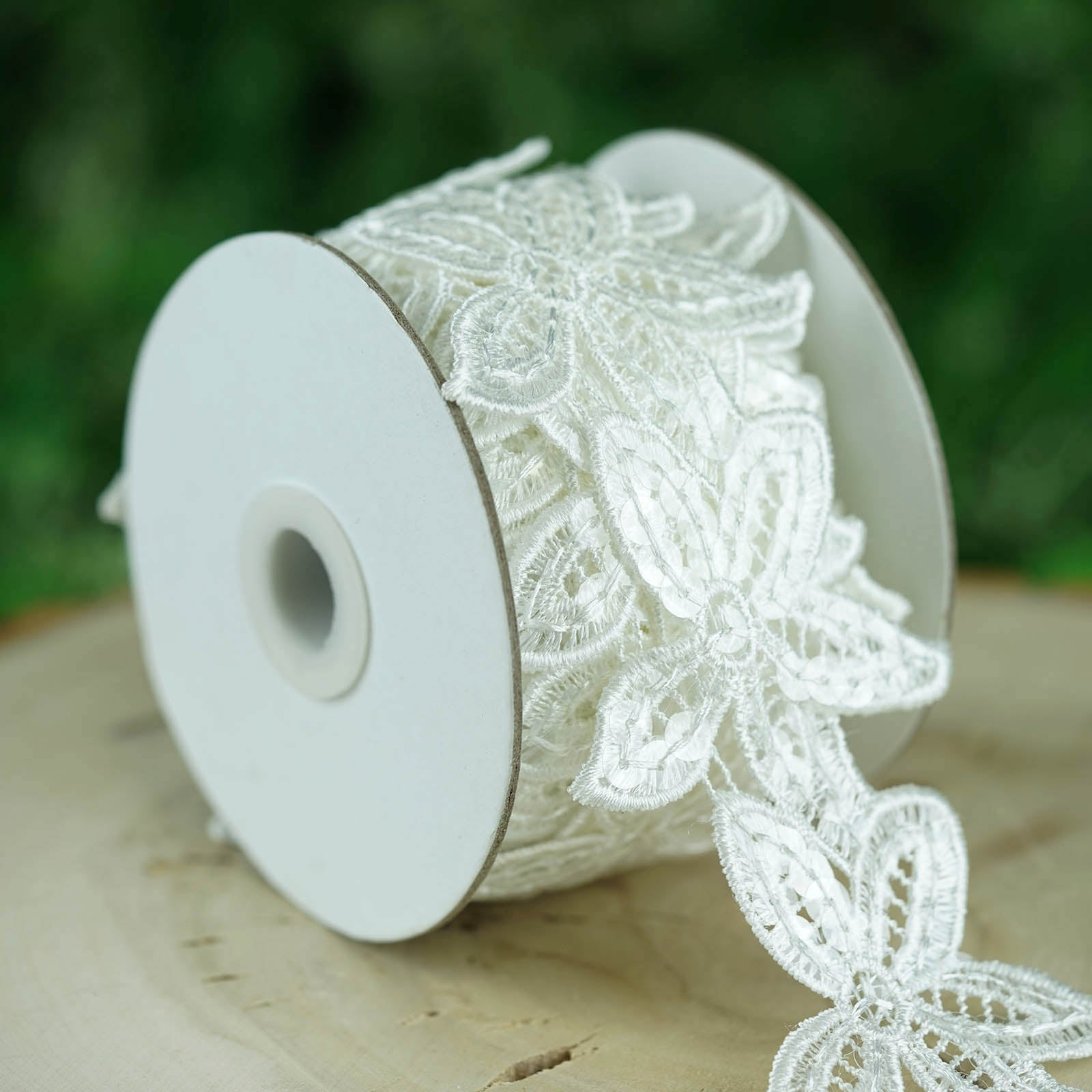 Embellishment Ribbon 1 yard Sequin Trim ~ Choose From 6 Colors ~ Fabric
