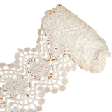 "7.5"" Rhythmic Mandala Crocheted Heavy Lace Ribbon Trim - White - 5 Yard"