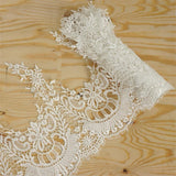 "Retro Arbor Crocheted Heavy Lace Ribbon Trim 11.4"" x 5yards - White"