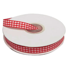 "25 Yard 3/8"" DIY Red Gingham Checkered Ribbon For Craft Dress Wedding( Sold Out )"