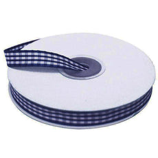"25 Yard 3/8"" DIY Royal Blue Gingham Checkered Ribbon For Craft Dress Wedding ( Sold Out )"