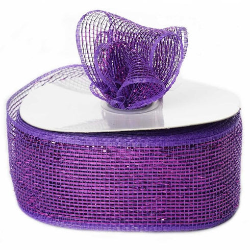 "What a MESH! 2.5"" x 25yards Shiny Ribbons Purple"