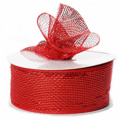"What a MESH! 2.5"" x 25yards Shiny Ribbons Red"