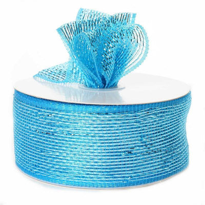 "What a MESH! 2.5"" x 25yards Shiny Ribbons Turquoise"