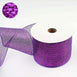"25 Yards 4"" Purple Sparkling Mesh Ribbon Wholesale"