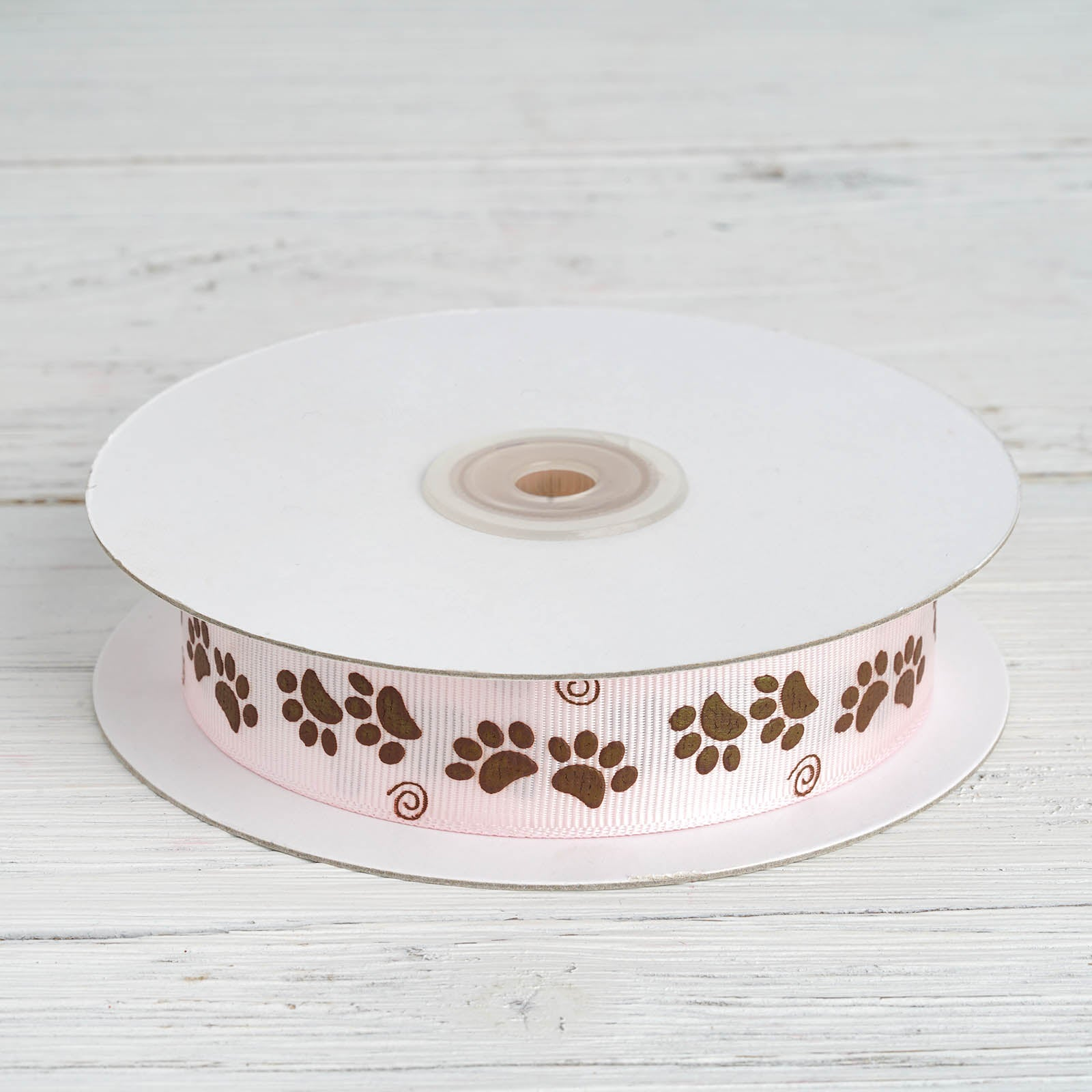 """USA Seller By The Yard Paws inspired 7//8/"""" White Grosgrain Ribbon"""