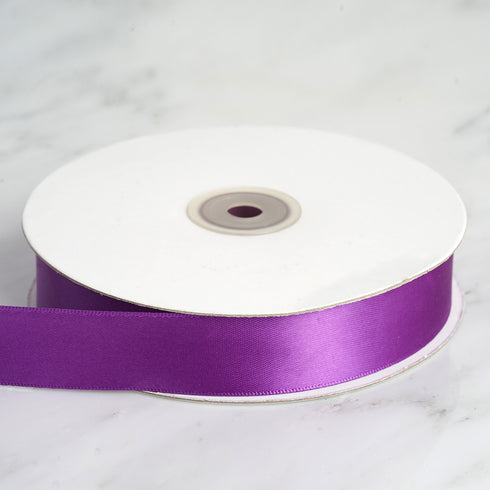 "50 Yards 1"" Eggplant Satin Ribbon"