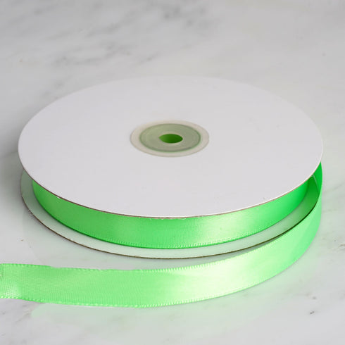 "50 Yards 5/8"" Apple Green Satin Ribbon"