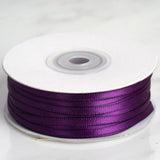 "100 Yards 1/8"" Eggplant Satin Ribbon"