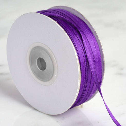 "100 Yards 1/8"" Purple Satin Ribbon"