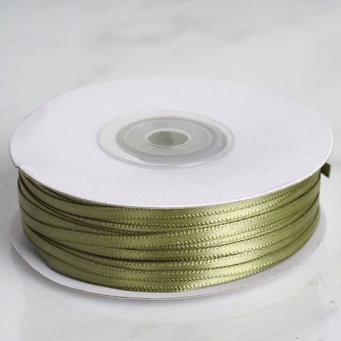 "100 Yards 1/8"" Moss/Willow Satin Ribbon"