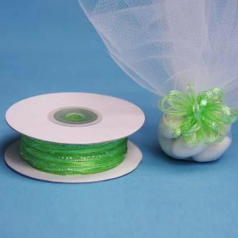 "1/8"" Pull Ribbon - Apple Green - 50 Yard"