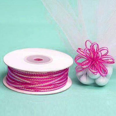 "1/8"" Pull Ribbon - Fushia - 50 Yard"