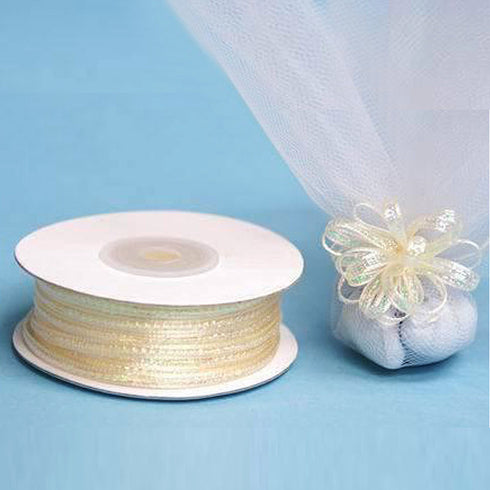 "50 Yards 1/8"" DIY Ivory Pull Ribbon Wedding Party Dress Favor Gift Craft"
