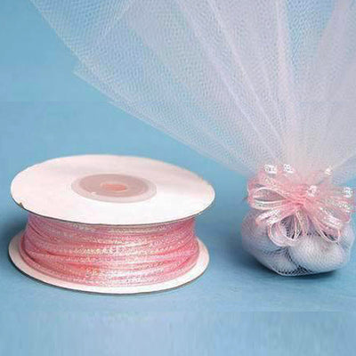 "1/8"" Pull Ribbon - Pink - 50 Yard"