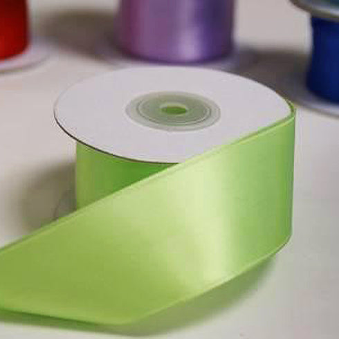 "10 Yards 1.5"" DIY Apple Green Wired Satin Ribbon For Craft Dress Wedding"