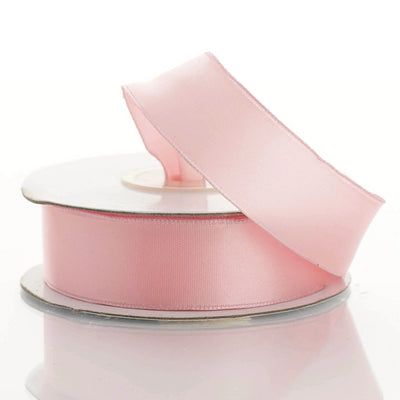 "10 Yards 7/8"" Pink Satin Wired Edge Ribbon"