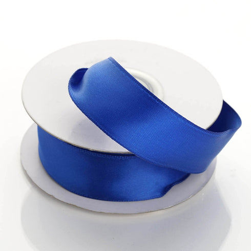 "10 Yards 7/8"" Royal Blue Satin Wired Edge Ribbon"