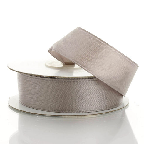 "10 Yards 7/8"" Silver Satin Wired Edge Ribbon"