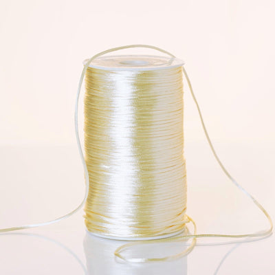 200 Yards 2mm Ivory Rattail Ribbon