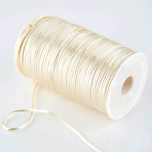 200 Yards 2mm Ivory Satin Rattail Cord