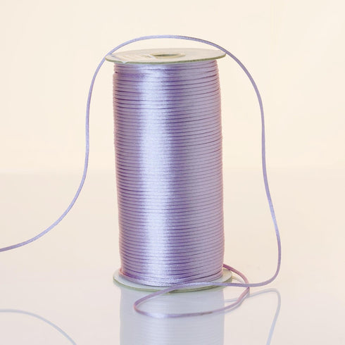 200 Yards 2mm Lavender Satin Rattail Cord