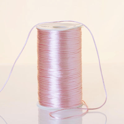 200 Yards 2mm Pink Rattail Ribbon