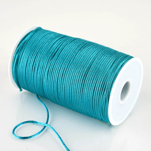 200 Yards 2mm Turquoise Satin Rattail Cord