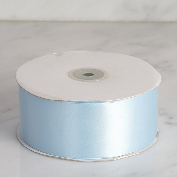 "50 yards 2"" Baby Blue Wholesale Satin Ribbon Roll"