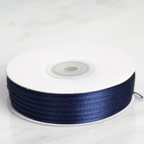 "100 Yards 1/16"" Navy Blue Single Face Satin Ribbon"