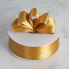 "50 Yards 1.5"" DIY Gold Satin Ribbon"