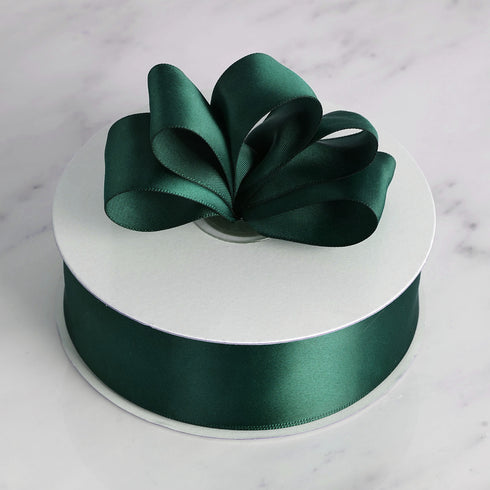 "50 Yards 1.5"" DIY Hunter Emerald Green Satin Ribbon"
