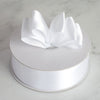 "50 Yards 1.5"" White Single Faced Satin Ribbon Wholesale"