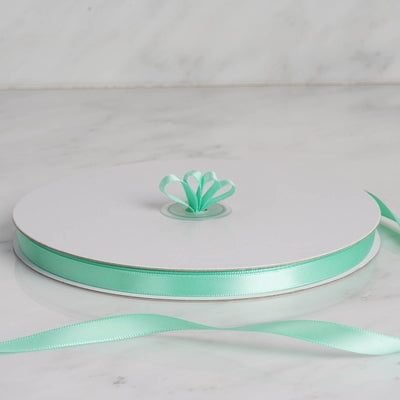 "100 Yards 3/8"" Mint Decorative Satin Ribbon"