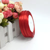 "100 Yards 3/8"" Red Decorative Satin Ribbon"
