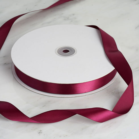 "100 Yards 7/8"" Burgundy Satin Ribbon"