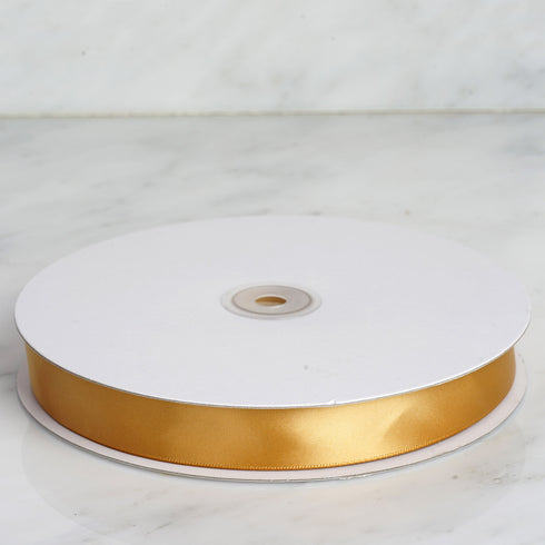 "100 Yards 7/8"" Gold Satin Ribbon"