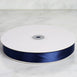 "100 Yards 7/8"" Navy Blue Satin Ribbon"