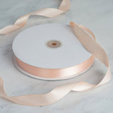 "7/8"" Satin Ribbon - Peach - 100 Yards"