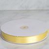 "100 Yards 7/8"" Yellow Satin Ribbon"