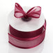 "25 Yards 1.5"" Burgundy Organza Ribbon With Satin Edges"