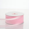 "25 Yards 1.5"" Pink Organza Ribbon With Satin Edges"