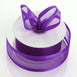"25 Yard 1.5"" Purple Organza Ribbon With Satin Edges"